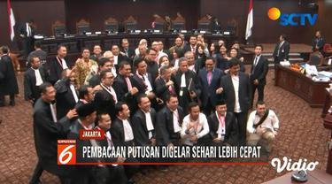 Mahkamah Konstitusi putuskan akan memajukan pembacaan putusan perselisihan hasil pilpres pada 27 Juni.