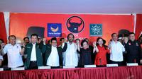Koalisi PDIP, Nasdem dan PKB (Liputan6.com/Johan Tallo).