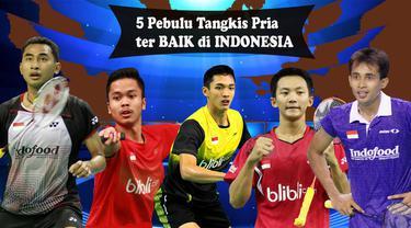 Video lima pemain bulu tangkis tunggal putra terbaik yang dimiliki Indonesia saat ini. Tommy Sugiarto menempati ranking 1 di Indonesia dan 10 di dunia.