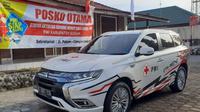 Mitsubishi Outlander PHEV Dukung Petugas PMI Siaga di Gunung Merapi (Ist)
