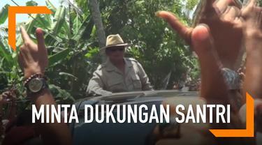 Saat kunjungi Pondok Pesantren Assada di Sumenep, Prabowo Subianto minta doa dan dukungan ulama dan santri.