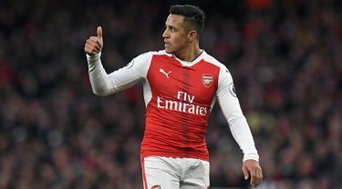 Manchester United, melalui situs resminya, Senin (22/1/2018), mengumumkan telah resmi merekrut Alexis Sanchez. (EPA/Will Oliver)