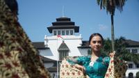 Gedung Sate di Kota Bandung, genap berusia 100 tahun pada 27 Juli 2020. (Liputan6.com/Huyogo Simbolon)