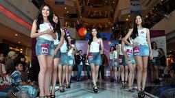 Tak hanya cantik, tetapi calon Miss Celebrity Indonesia juga harus multitalenta, Jakarta, (21/9/14). (Liputan6.com/Miftahul Hayat)