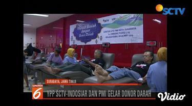 YPP SCTV-Indosiar bekerja sama dengan PMI menggelar donor darah di sejumlah daerah.