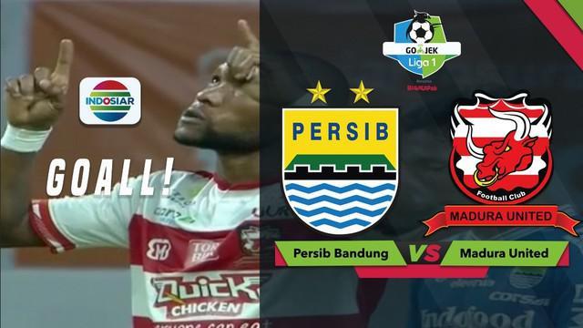 Goal tendangan tanpa ampun yang diciptakan Zah Rahan, membuat Madura United menang 2-1 atas Persib Bandung