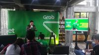 Grab, sebagai aplikasi terkemuka di Asia Tenggara yang bergerak di layanan transportasi, memeperkenalkan sejumlah fitur terbarunya di Yogyakarta. (Liputan6.com/ Switzy Sabandar)