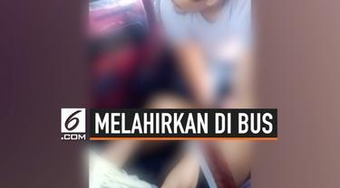 Seorang wanita hamil mengalami kontraksi saat perjalanan di dalam bus dari Cagayan de Oro City, Filipina. Lebih dari 20 penumpang bus membantu wanita itu melahirkan.