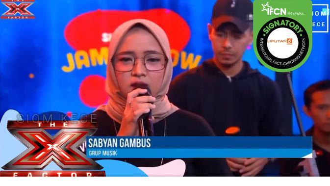 Hoaks Nissa Sabyan bikin nangis 3 juri X Factor. (Facebook)