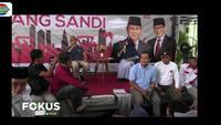 Dalam kesempatan kampanye, Sandiaga Uno bersama tim suksesnya mengunjungi posko pemenangan di Kecamatan Gombong, Kebumen, Jawa Tengah.