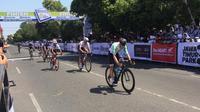 Tour d'Indonesia 2019 resmi dimulai, Senin (19/8) di Candi Borobudur, Magelang. (Liputan6.com/Adyaksa Vidi)