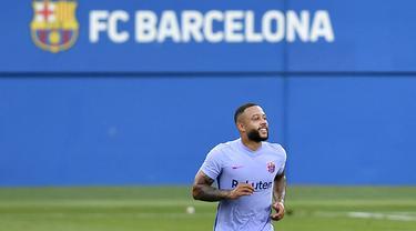Foto: Memphis Depay Cetak Gol Debut, Barcelona Hajar Girona