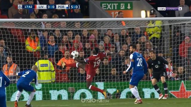 Berita video peluang-peluang Liverpool saat bermain imbang tanpa gol kontra Porto pada leg II 16 Besar Liga Champions 2017-2018. This video presented by BallBall.