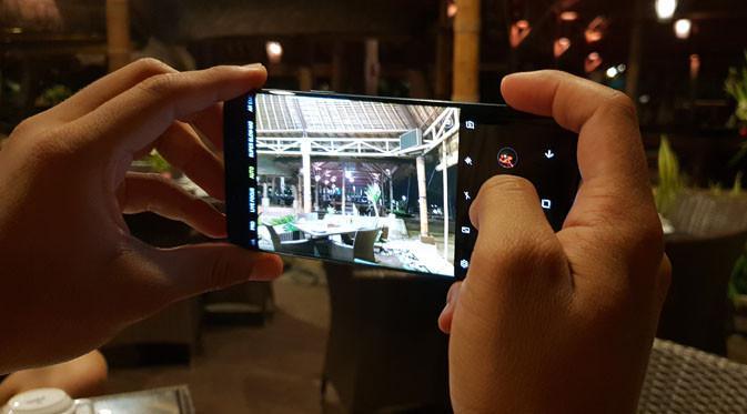 Samsung Galaxy S9. Liputan6.com/ Agustinus Mario Damar