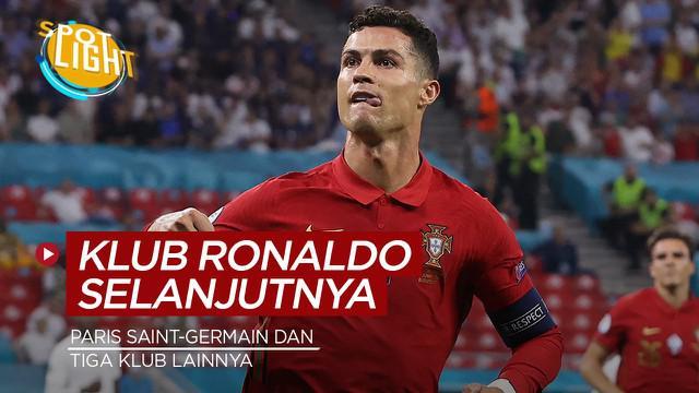 Berita video spotlight ini membahas tentang empat klub tujuan Cristiano Ronaldo selanjutnya, salah satunya PSG.