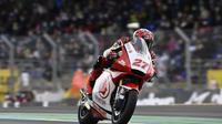 Andi Gilang saat mengikuti balapan Moto2 Prancis di Sirkuit Le Mans, Minggu (11/10/2020). (Istimewa)