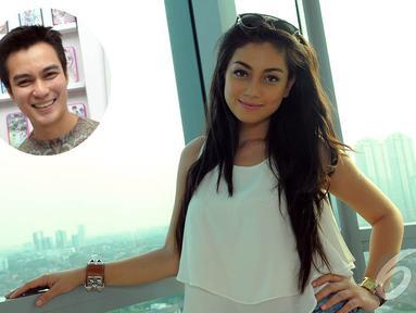 Aktris Celine Evangelista dikabarkan menjalin hubungan dengan Baim Wong, (2/10/14). (Liputan6.com/Faisal R Syam)