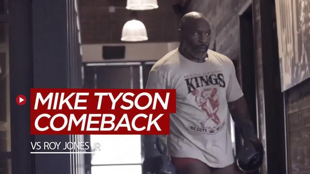 Berita video kabar baik bagi para pecinta tinju, Mike Tyson kembali bertarung dan akan menghadapi Roy Jones Jr pada 12 September 2020.