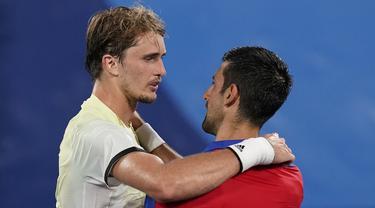 FOTO: Reaksi Alexander Zverev Usai Taklukkan Novak Djokovic di Olimpiade Tokyo 2020