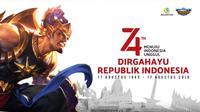 Mobile Legends: Bang Bang ikut menyemarakkan hari ulang tahun ke-74 proklamasi kemerdekaan Republik Indonesia.  (Ist/ MLBB)