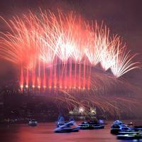 Kembang api tahun baru 2018 di Sydney, Australia (AFP)
