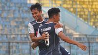 Nasir jadi satu di antaranya beberapa pemain Arema yang diprediksi mencuat di Liga 1 2018. (Bola.com/Iwan Setiawan)