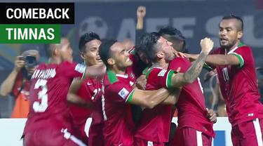 Berita video highlights momen comeback Timnas Indonesia saat menghadapi Thailand pada Final Leg I Piala AFF 2016 di Pakansari, Bogor.