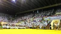 Angkatan Muda Partai Golkar buka bersama 30 ribu anak yatim. (Liputan6.com/Ahmad Romadoni)
