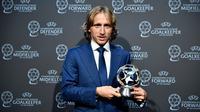 Luka Modric mendapat gelar sebagai gelandang terbaik Eropa untuk musim 2016-17. (doc. UEFA)