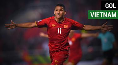 Berita video momen gol pemain veteran Nguyen Anh Duc yang mengantarkan Vietnam menjadi juara Piala AFF 2018.