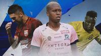 BRI Liga 1 - Jonathan Bustos, Jaja, Ezechiel N'Douassel (Bola.com/Adreanus Titus)