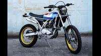 Yamaha WR155 kustom bergaya Yamaha XT. (Foto: @lonamurwiki_)