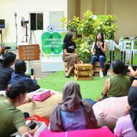 Gillian Koh berbagi cerita menarik soal vegan plant based diet di Weekend Workout Wellness yang diadakan pada Sabtu (9/11/2019) di Senayan City. (Fimela.com/Adrian Putra)