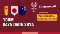 Final 100 M Gaya Dada SB14 Putra Putri di Vidio