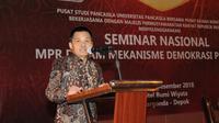 Sekretaris Jenderal MPR Dr. Ma'ruf Cahyono dalam seminar kerjasama MPR dan Pusat Studi Pancasila (PSP) Universitas Pancasila.