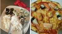 6 Menu Kombinasi Makan Sushi Ini Kelewat Unik, Bikin Heran (sumber: 1cak Twitter/ffodfess)