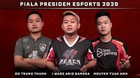 Tiga Besar eFootball PES 2020 Piala Presiden eSports 2020. (Dok. Instagram/PialaPresidenEsports)