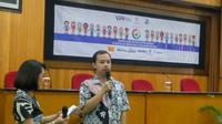 Dionisius Agung Sulistyo merupakan alumni UGM dengan autisme yang saat ini bekerja di I'm Star Bintaro (Liputan6.com/ Switzy Sabandar)