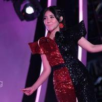 Via Vallen masuk dalam deretan artis yang ikut memeriahkan acara malam puncak perayaan HUT SCTV ke-27