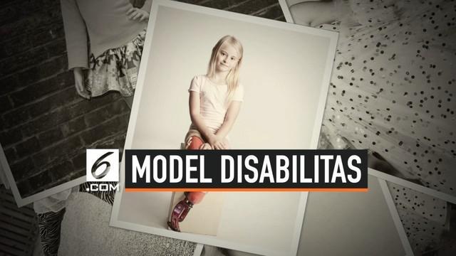 Daisy May Demetre, model cilik yang juga penyandang disabilitas dari Birmingham, Inggris. Di usianya yang ke-7 tahun, Daisy berhasil menjadi model cilik profesional di bawah naungan agen modeling besar.