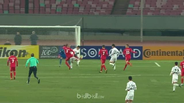 Palestina ditahan imbang 1-1 oleh Korea Utara dalam pertandingan kedua Grup B Piala Asia U-23, Sabtu (13/1). Oday Dabagh membawa P...