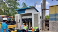 Perbaikan listrik di area banjir Tangerang. (dok PLN)
