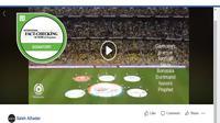 [Cek Fakta] Suporter Klub Sepak Bola Jerman Lantunkan Salawat? (Facebook)