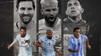 Ilustrasi - Lionel Messi, Sergio Aguero, Carlos Tevez (Bola.com/Adreanus Titus)