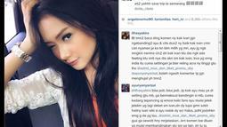 """Pada 21 November 2014, Ivan Gunawan mengunggah foto Cita Citata dengan tulisan """"ati2 yahhh save trip to semarang @cita_citata"""". (instagram.com/ivan_gunawan)"""