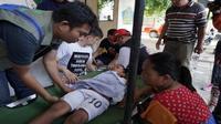 Puskesmas kembali berfungsi berkat bantuan dari tim relawan gempa dan tsunami Palu. (Biro Komunikasi dan Pelayanan Masyarakat, Kementerian Kesehatan R)