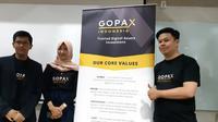 Ki-ka: Business Strategist Gopax Indonesia M Yusuf Musa, Operational Manager Shufi Diar, dan Legal Manager Gopax Indonesia Dauri Lukman. Liputan6.com/Agustin Setyo Wardani