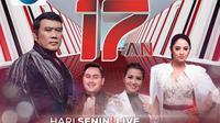 Konser 17-an digelar Indosiar live, Senin (17/8/2020) bersama pedangdut papan atas seperti Rhoma Irama dll