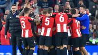 5. Athletic Bilbao - Los Leones terkenal dengan kebijakannya yang hanya menggunakan pemain keturunan Basque. Sejak berdiri pada 1898, klub yang bermarkas di San Memes itu belum pernah terdegradasi dari La Liga. (AFP/Ander Gillenea)