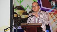 Ketua Umum Kadin Rosan Roeslani memberi sambutan saat penandatangangan MOU di Jakarta (14/8). Nota kesepahaman ini juga sebagai jalan keluar untuk mengatasi kelesuan pembiayaan khususnya di bidang otomotif. (Liputan6.com/Helmi Afandi)